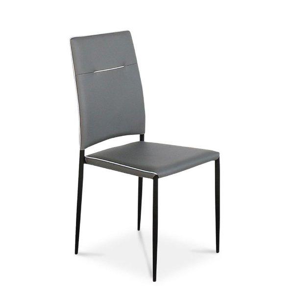 Liberta Gordon Γκρι PU Καρέκλα