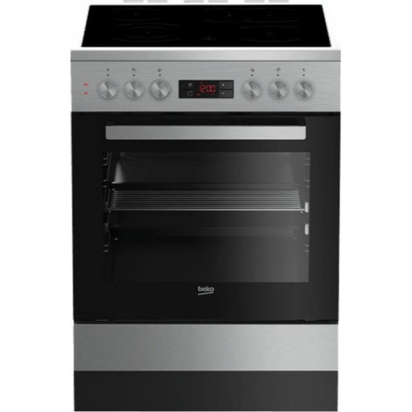 Beko FSM 67320 DXT Inox Κουζίνα Κεραμική