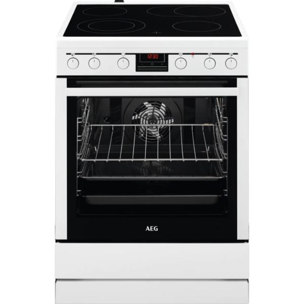 AEG 347056V-WN Λευκή Κουζίνα Κεραμική