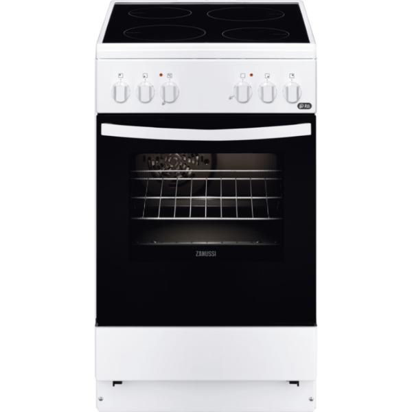 Zanussi ZCV550G1WA Λευκή 50εκ. Κουζίνα Κεραμική