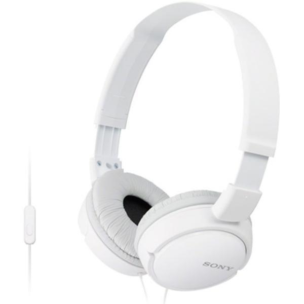Sony MDR-ZX110APW White Ακουστικά Κεφαλής με Μικρόφωνο
