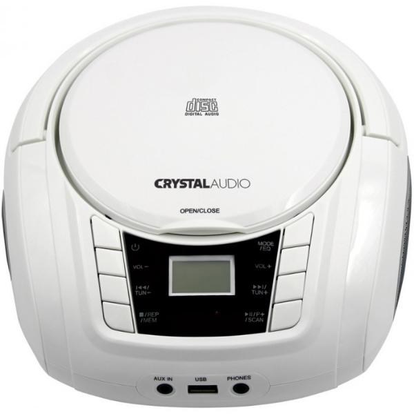 Crystal Audio Boombox BMBU2W Λευκό CD Ραδιόφωνο