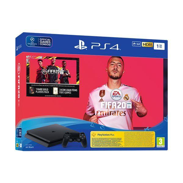 Sony PS4 Slim 1TB & FIFA 20 & FIFA 20 Voucher Κονσόλα Playstation