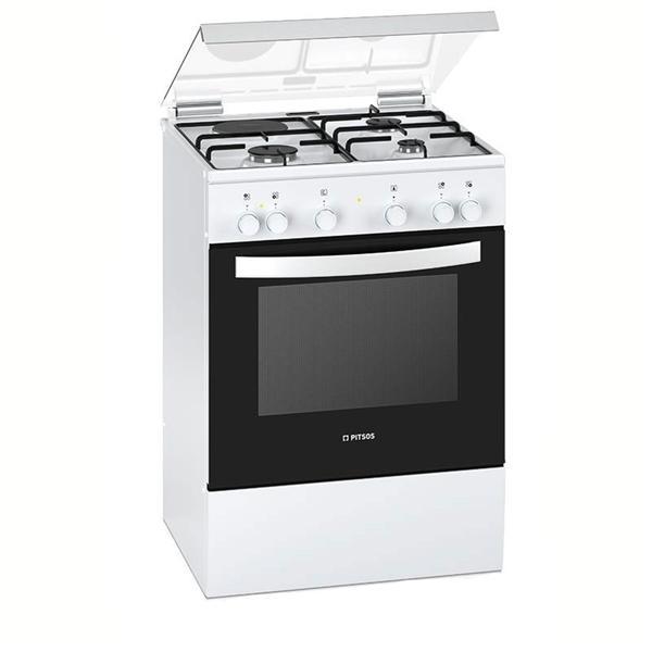 Pitsos PACB521K20 Λευκή Κουζίνα Υγραερίου